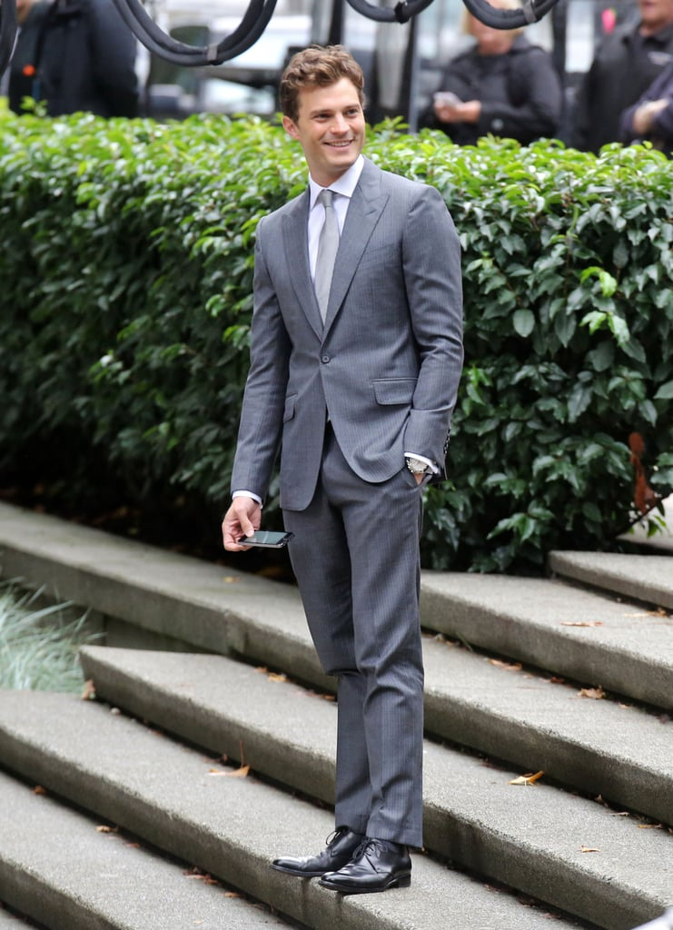 Let's start with pictures from the set of Fifty Shades of Grey.