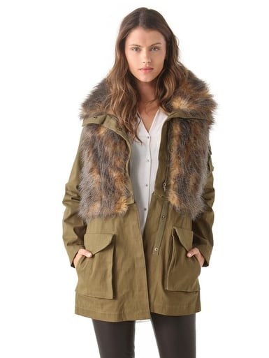 This Three Floor Field Trip Parka ($222, originally $318), which also zips off into a cropped jacket, comes complete with fur detailing and has the sporty feel of an anorak, making it the ultimate cold-weather find.