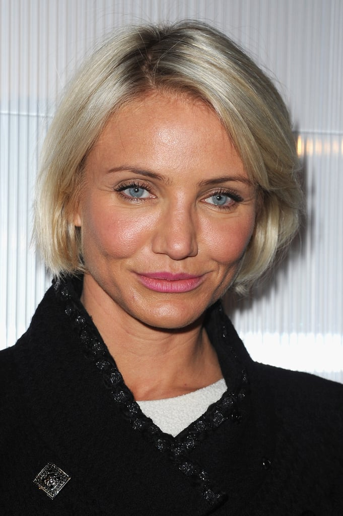 Cameron Diaz arrived at Chanel's Haute Couture fashion show.