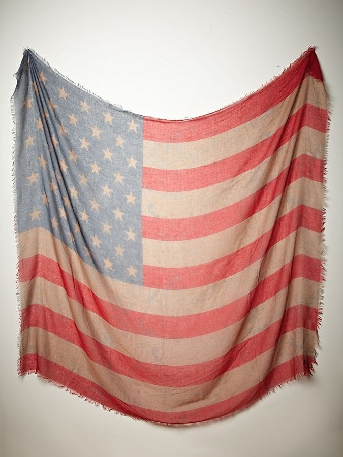 Free People Oversize American Flag Scarf