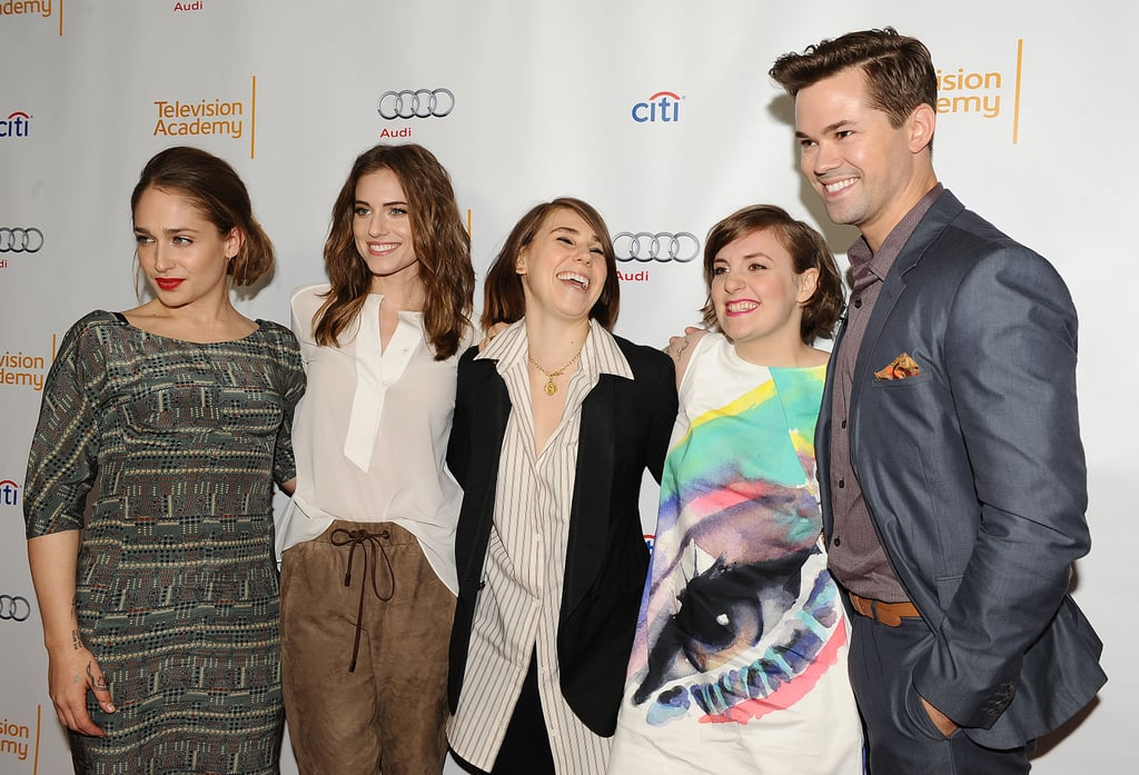 The cast of Girls attended a panel at the Television Academy in LA on Thursday.