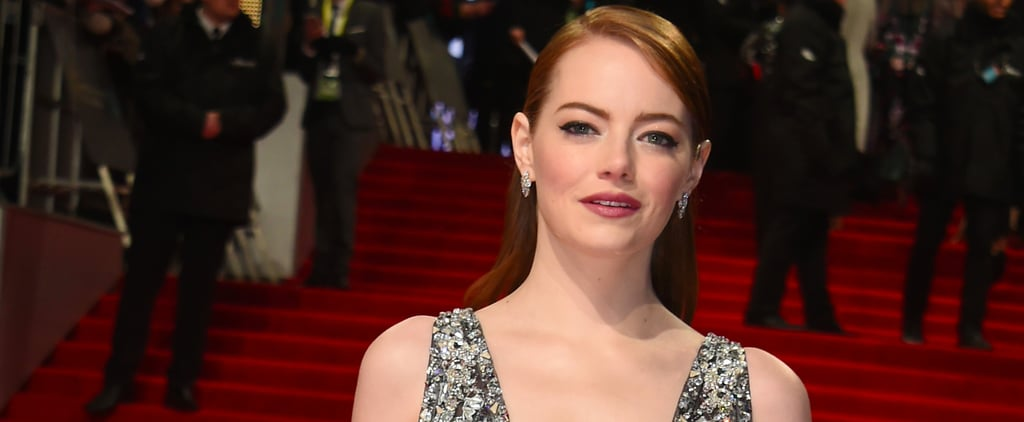 The Dress-Over-Trousers Trend Hits Another Red Carpet, Courtesy of Emma Stone