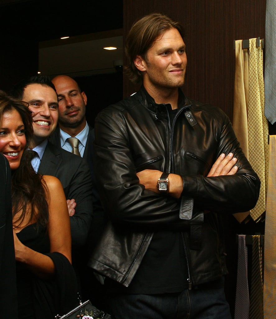 Tom Brady at the Ermenegildo Zegna store in Boston.