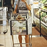 Halle Berry shopped solo.