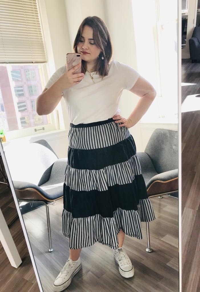 White Tee Mirror Selfie