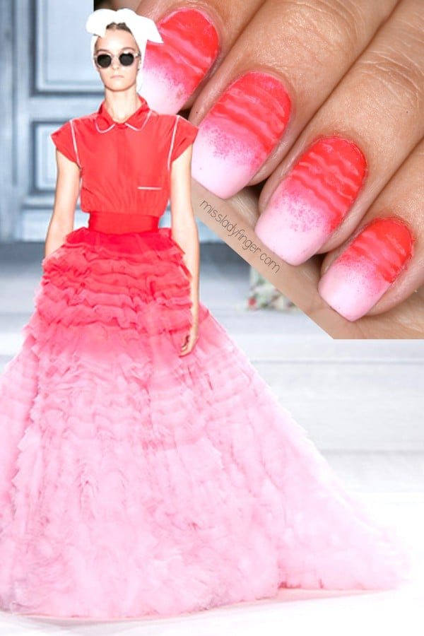 Pink Ombre Nail Art