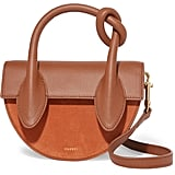 Yuzefi Dolores Suede and Textured Leather Shoulder Bag