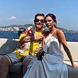 Victoria Beckham With Elton John
