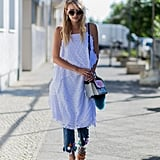 Wear a White Dress Over Jeans