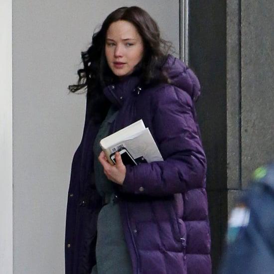Jennifer Lawrence on the Set of Hunger Games Mockingjay