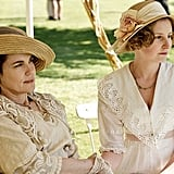 "Upper-class women like Cora and Edith typically wore hats and gloves if they went outside. That's because a pale complexion, not a tanned glow, signified wealth and status. Fair, nearly translucent skin was desirable among nobles, especially if veins could be seen. (Hence the popularity of the phrase ""blue bloods."") Source: ITV"