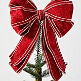 Red Bow Tree Topper