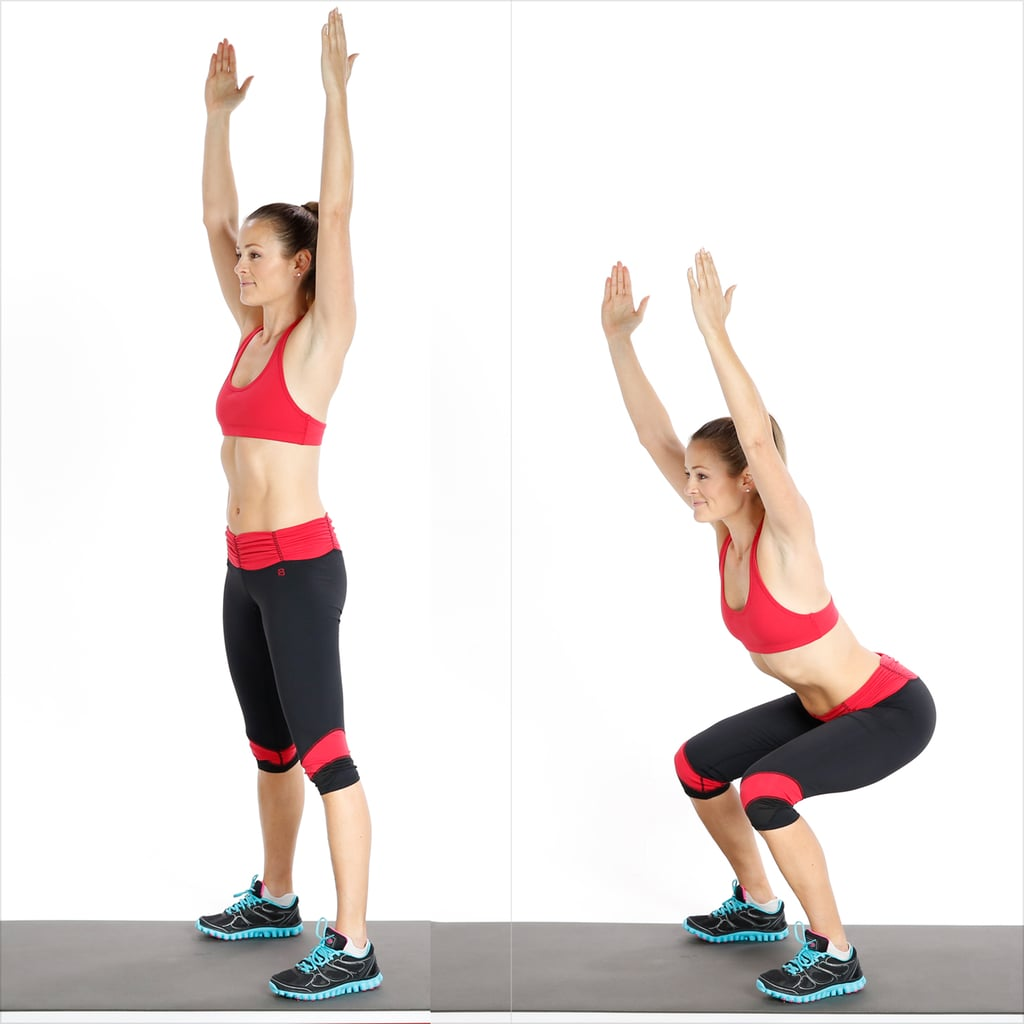 Circuit Two: Squat With Overhead Reach