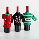 World Market Ugly Sweater Wine Bottle Outfits, Set of 3