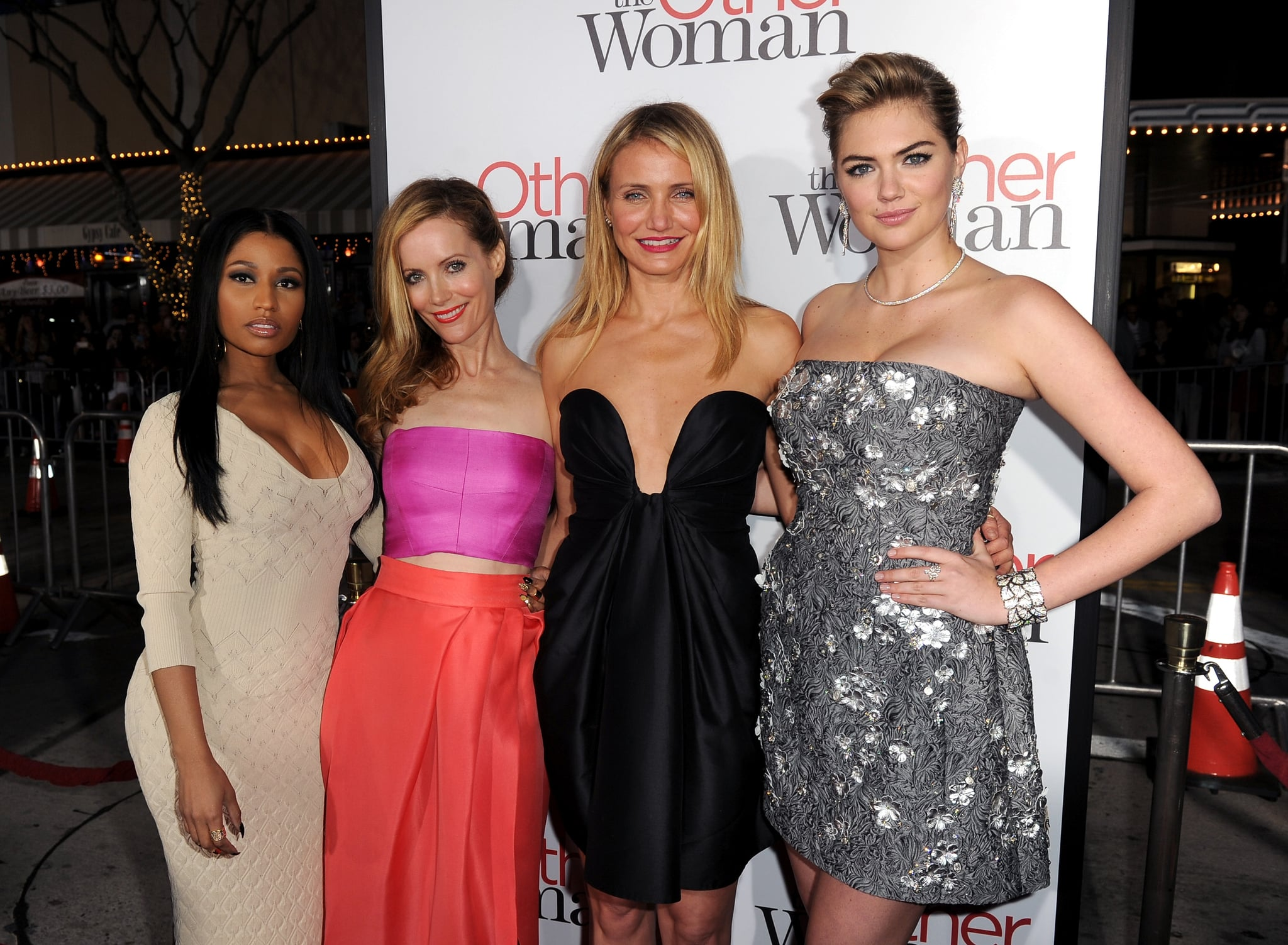 Nicki Minaj, Leslie Mann, Cameron Diaz, and Kate Upton brought The Other Woman to LA on Monday.