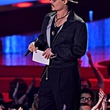 Johnny Depp's Unintelligible Intro For Movie of the Year