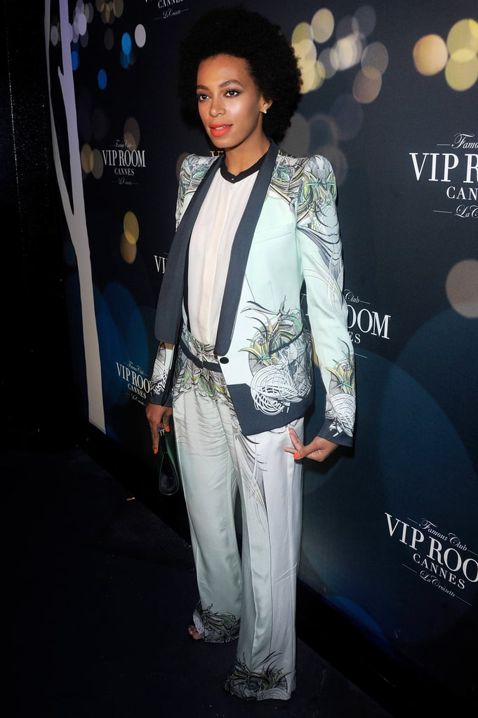 Solange Knowles attended Belvedere's party at the VIP Room to catch a DJ set by Rev Run and DJ Ruckus.