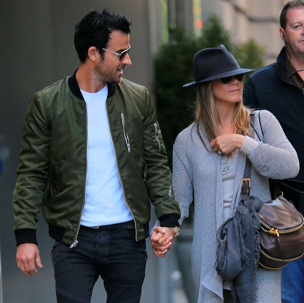 Jennifer Aniston and Justin Theroux Holding Hands in NYC