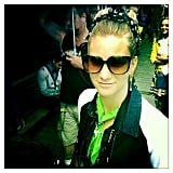 Dianna Agron snapped a photo of her Glee costar Heather Morris.  Source: Twitter User DiannaAgron
