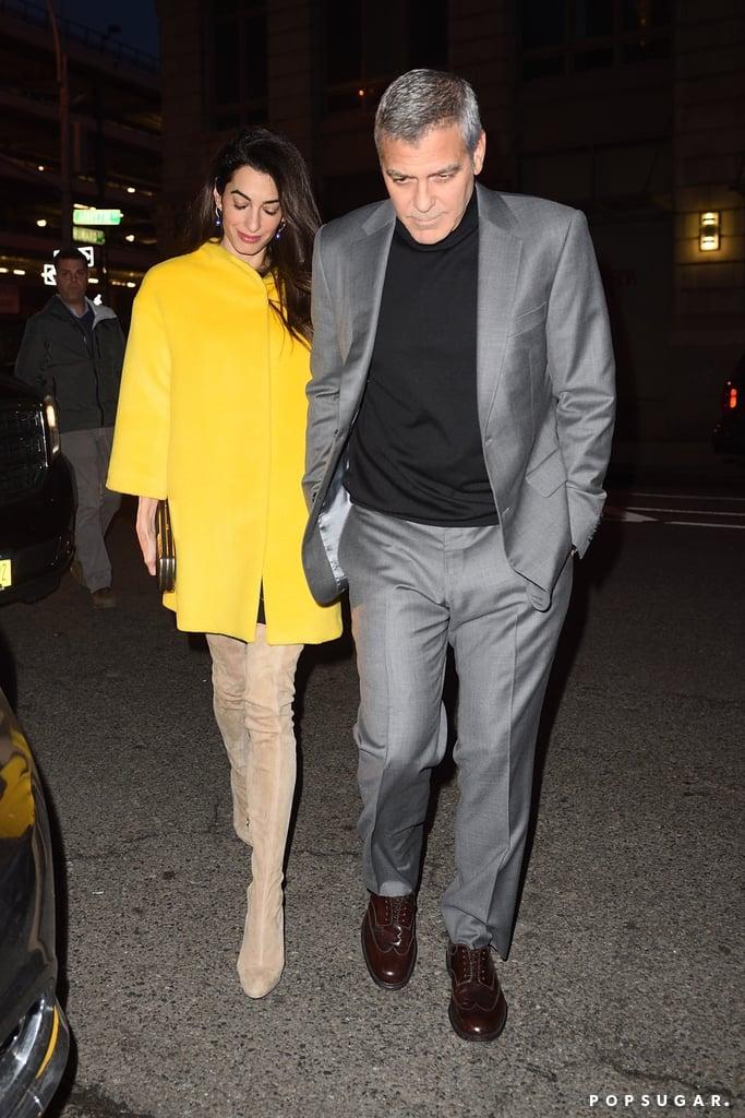 Amal Clooney Beige Knee-High Boots