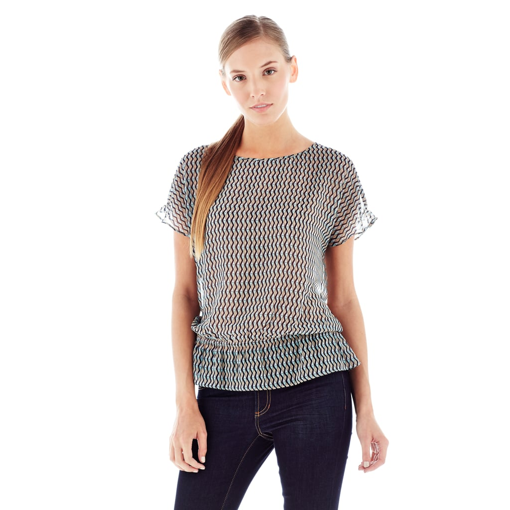 Joe Fresh's floaty feminine top ($29) is ready to be layered under a blazer or worn solo.