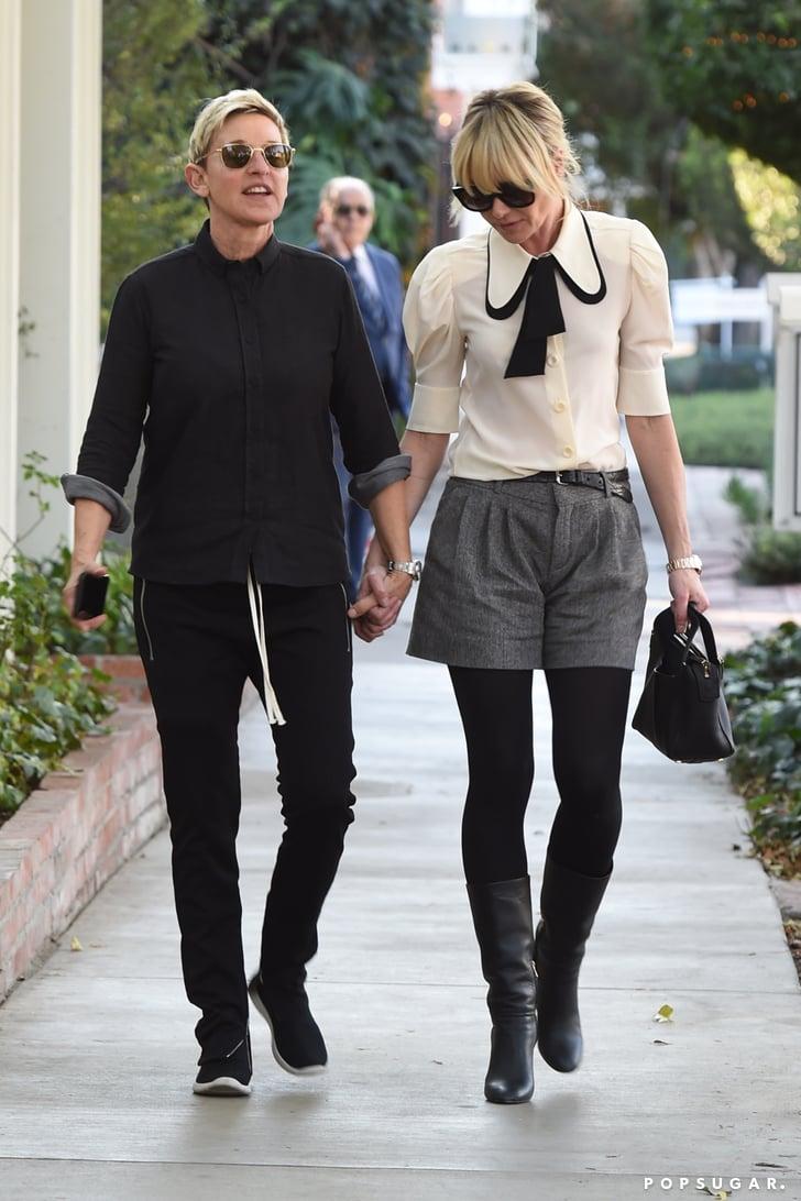 Ellen DeGeneres and Portia de Rossi Holding Hands in LA 2017   POPSUGAR Celebrity Photo 3