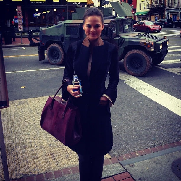 Chrissy Teigen arrived in D.C. for the Presidential Inauguration. Source: Instagram user chrissy_teigen