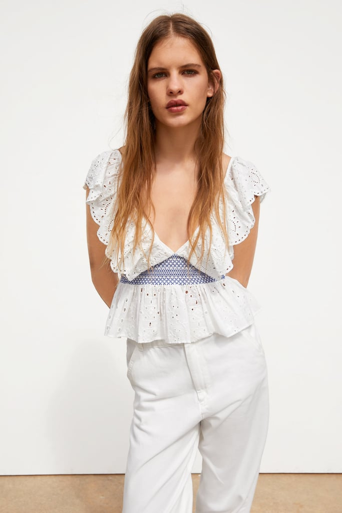 Zara Openwork Embroidery Top
