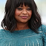 With tousled waves and blunt bangs, Octavia Spencer shone during the Fruitvale Station photocall.