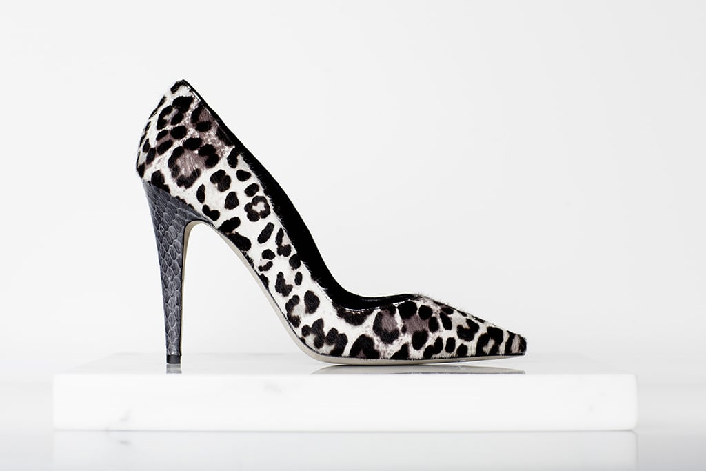 Addiction Pony Pump in Grey Leopard Photo courtesy of Tamara Mellon