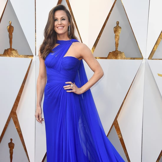 Jennifer Garner Blue Versace Dress Oscars 2018