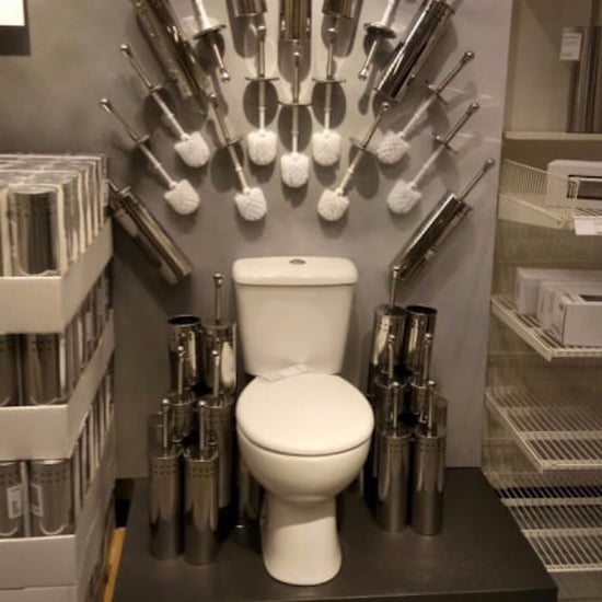 Game of Thrones Toilet Display at Ikea