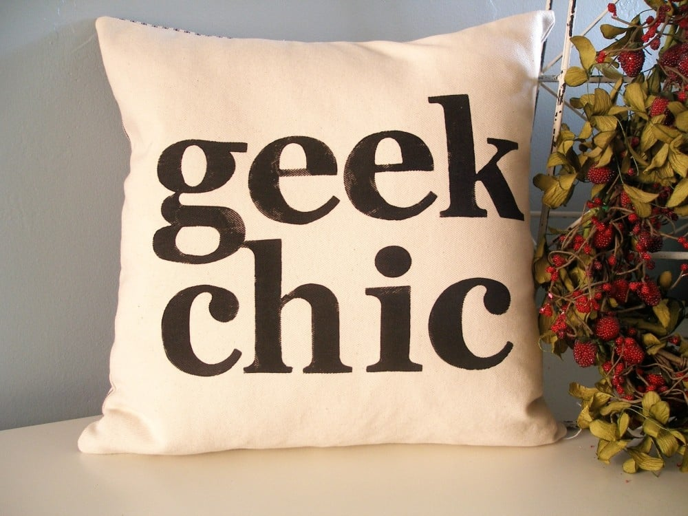 Geek Chic Pillow Cover