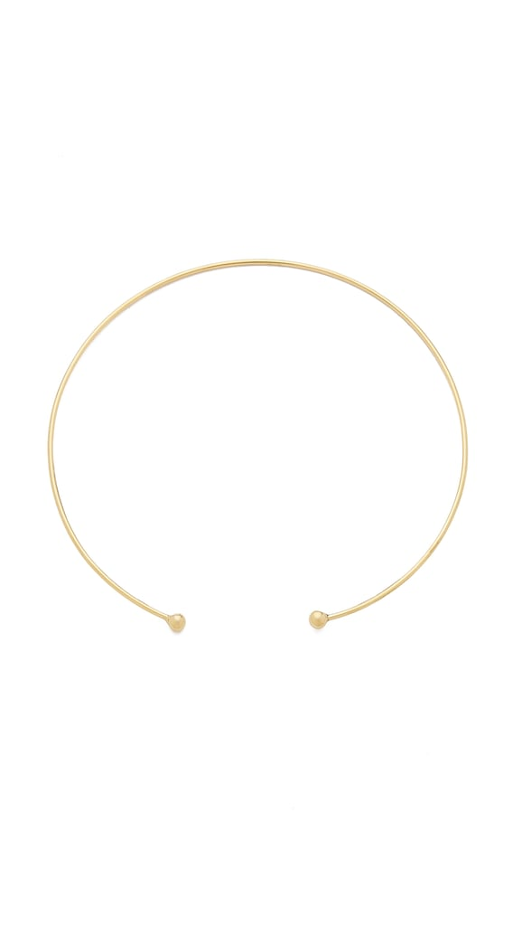 Chokers are making a comeback, but in a more barely there way. A dainty gold necklace adds a hint of shine and elevates any outfit you put on. This Vanessa Mooney choker ($62) works for day and night. I'm currently wearing it to death. — Julie Chiem, shopping content coordinator