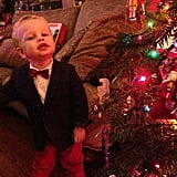 A bow-tied Gideon Burtka-Harris hammed it up at a holiday party. Source: Twitter user ActuallyNPH