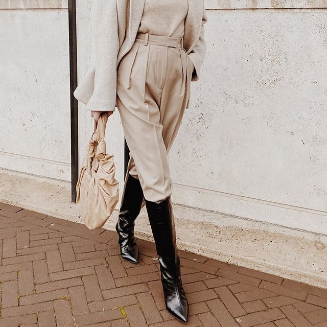 dress with high boots