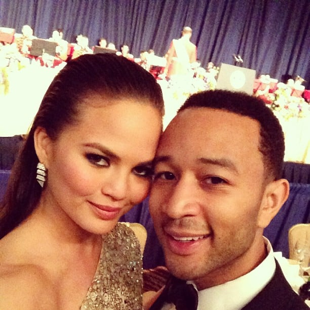 Chrissy Teigen and John Legend made a picture-perfect couple at the White House Correspondents' Dinner. Source: Instagram user chrissy_teigen