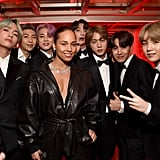 Pictured: Alicia Keys and BTS