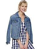 POPSUGAR Denim Cropped Jacket
