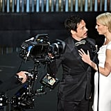 Robert Downey Jr. and Gwyneth Paltrow spoke onstage together.