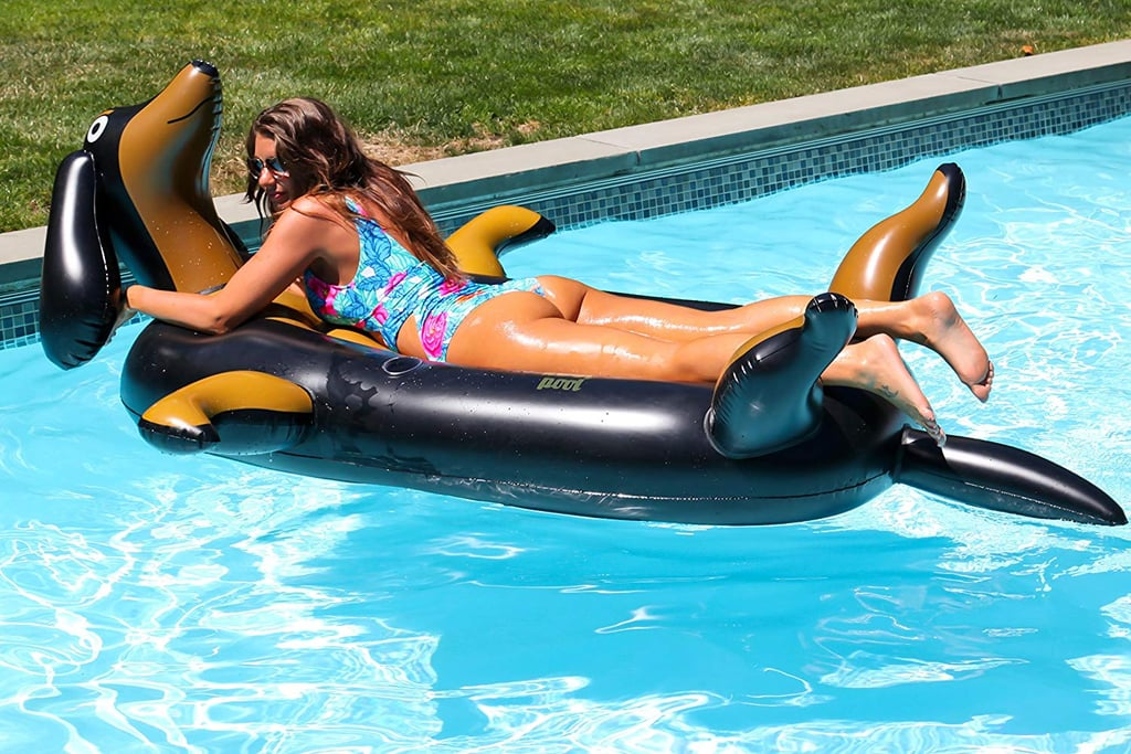 Not all pool loungers are created equal, and this giant inflatable dachshund raft from Kool Pool is definitely a step above the rest. The Pool Pup Float ($70) is just about the cutest thing we've ever seen, so if you're a fan of dachshunds, dogs in general, or just high-quality pool lounging, this float is a must-buy. Measuring seven feet long from snout to tail and weighing in around seven pounds, everyone is going to be fighting to claim this extrathick 7P-Free PVC lounger at your next pool party. Best of all: it has cup holders! What more could you want from an inflatable pet? Shop it ahead, and check out even more adorable pool loungers on Amazon.      Related:                                                                                                           15 Food Pool Floats That Will Make You LOL — From Pizza to Cupcakes