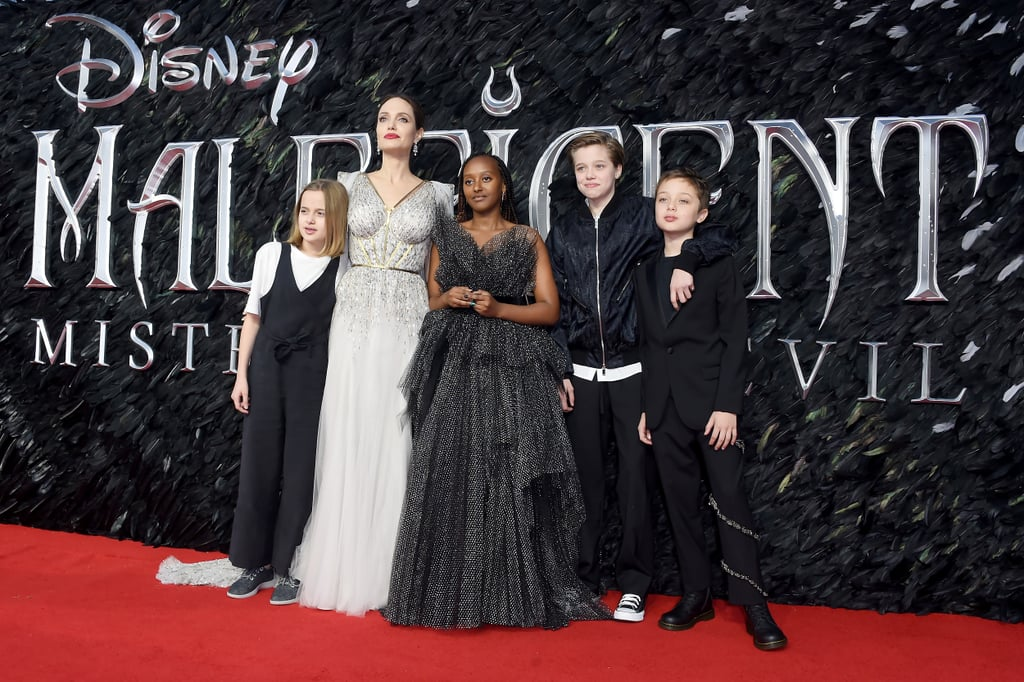 Angelina Jolie And Her Kids Maleficent 2 Press Tour Photos