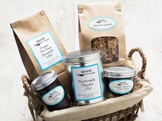 Spoon Breakfast in Bed Gift Basket