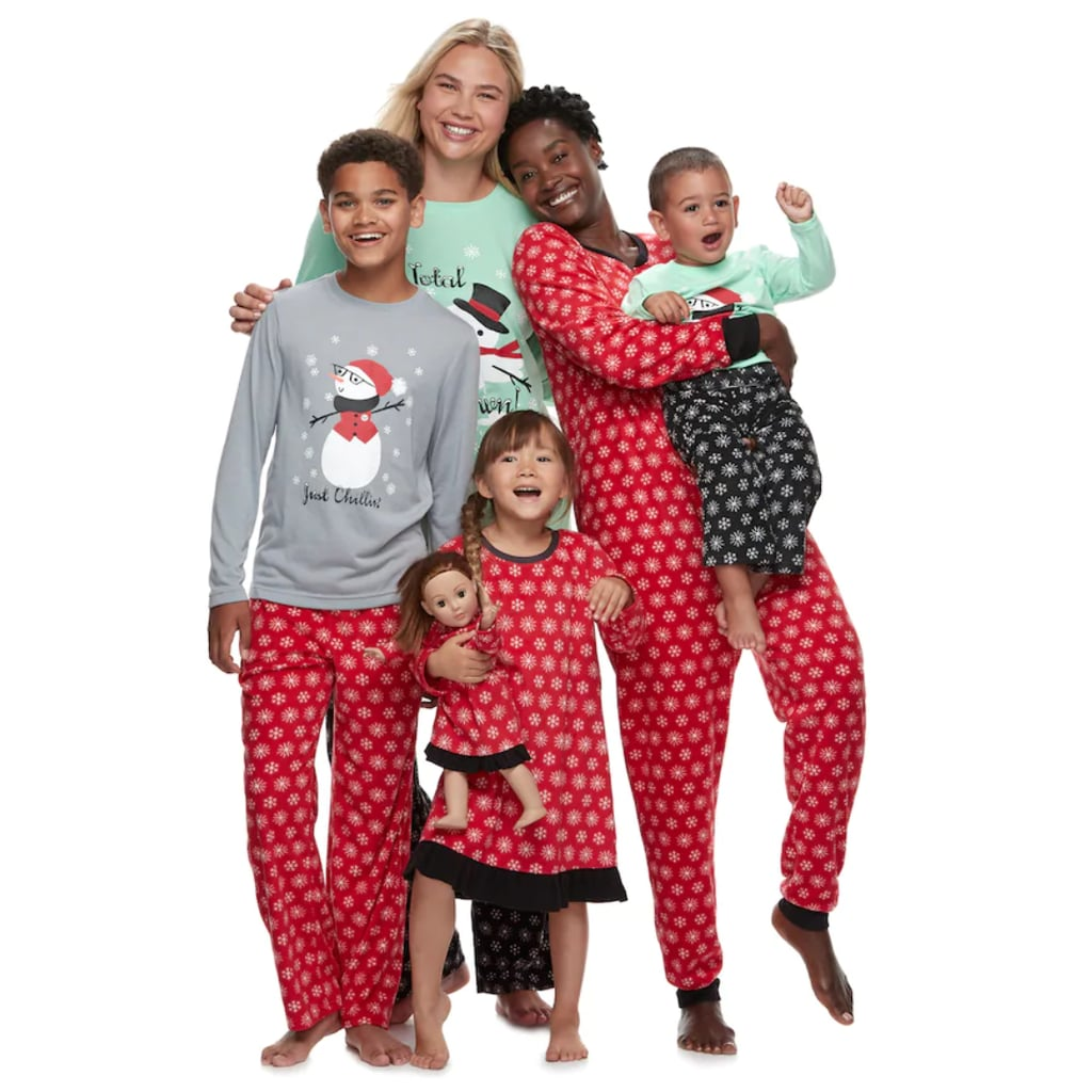 2c4e12533b Jammies For Your Families Snowman   Snowflakes Matching Pajamas ...