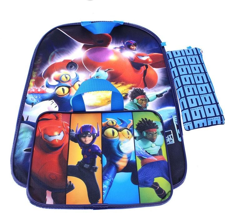 Big Hero 6 Backpack & Lunch Bag With Bonus Pencil Case