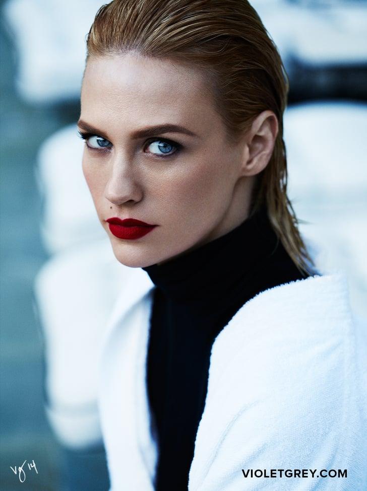 Score January Jones's Exact Chanel Red Lipstick Shade