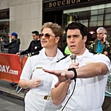 Jenna Bush Hager and Peter Alexander as Top Gun Characters