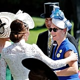 The Duchess of Cambridge and Zara Tindall