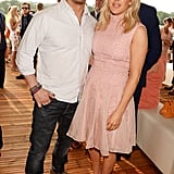 With Ellie Goulding at the Audi Polo Challenge in 2016.