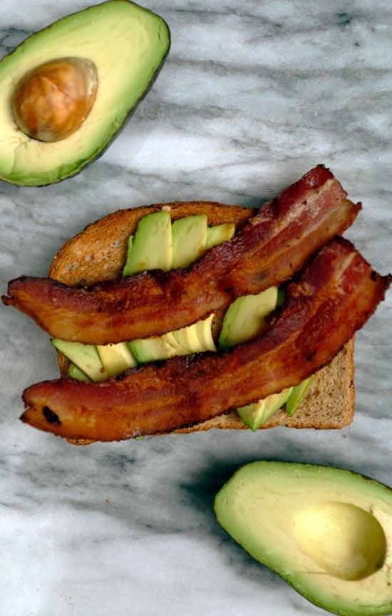 Avocado Toast With Bacon Strips